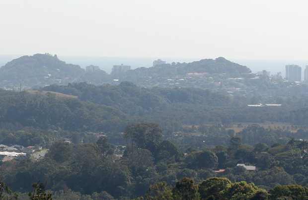 A smoke haze descended over Tweed Heads and the hinterland on Thursday.
