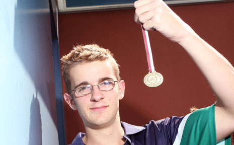 Caelan Baldwin has won gold in the 2012 QLD School Canoe Marathon Championships.