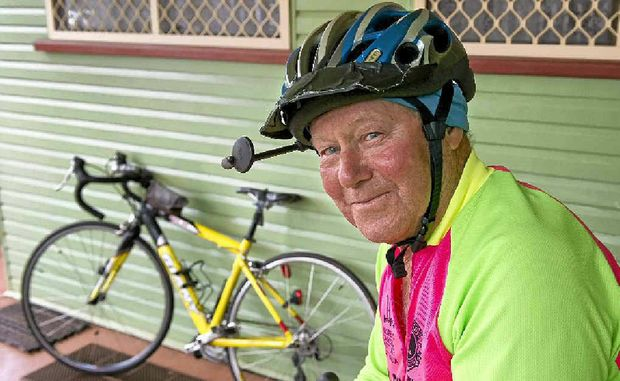Noel Newton, 80, still cycles between 50 and 100 kilometres every day.
