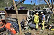Truck accident at Mt Pelion.