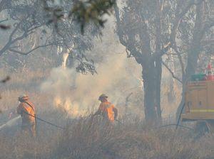 Fire burning along Warrego Hwy