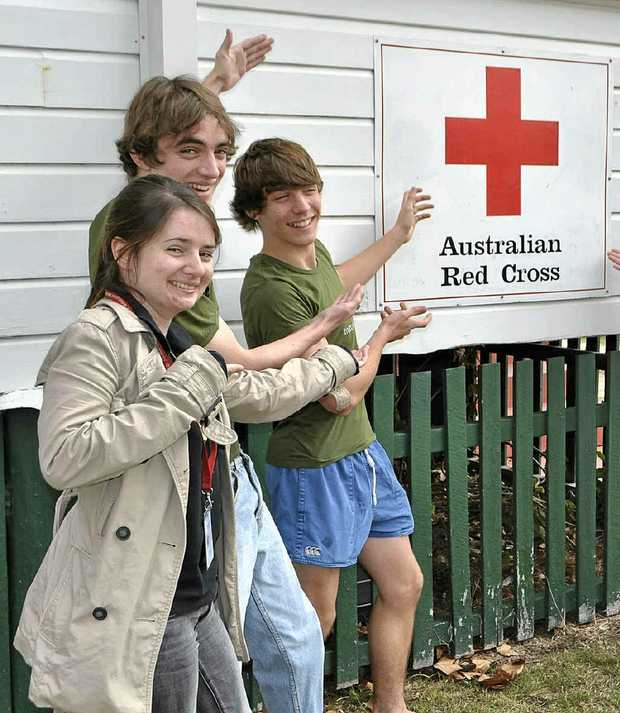 Elizabeth, Sebastian and Nicholas Keogh encourage those eligible to donate blood.