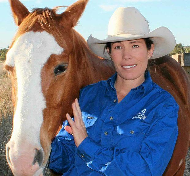 HIGH FLYER: Quilpie grazier Carolyn Burnes has been named a finalist in the 2012 Telstra Queensland Business Women's Awards.