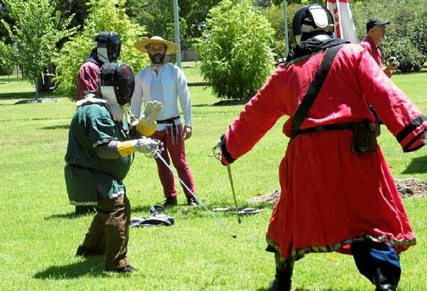 Medieval Day on the Green will be held in Leslie Park tomorrow and will feature weaponry, sword fighting and martial arts.