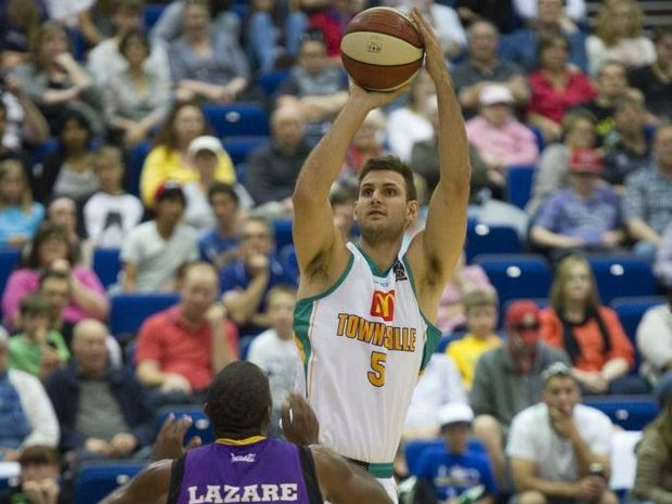 Ben Allen of Crocs, Townsville Crocodiles v Sydney Kings, Festival of Basketball Toowoomba NBL Challenge at Clive Berghofer Recreation Centre, USQ, Sunday, September 16, 2012. Photo Kevin Farmer / The Chronicle