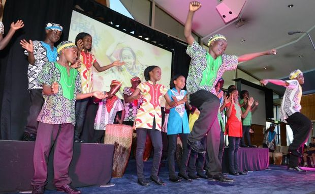 The Watoto Chikldren's Choir perform at Immanuel Lutheran College.