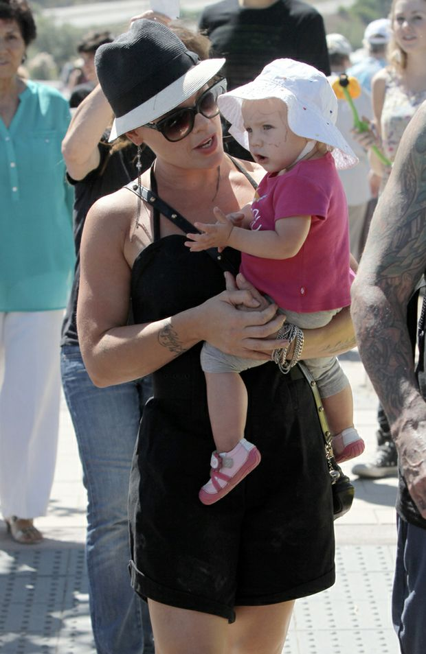 Pink with daughter Willow