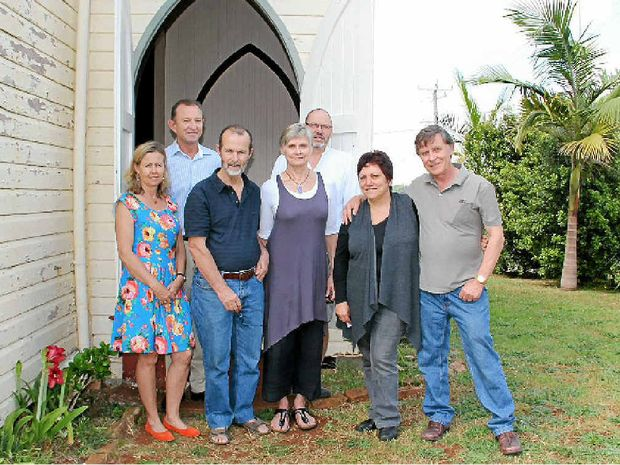 COMMUNITY ASSET: Members of the community who helped buy back the Anglican Church in Federal are pleased it has finally been handed back to the village.