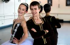 Tahnee Pitchers and Narrin Turnbull spend hours each week honing their skills at the Ballet Factory in Tweed Heads South.