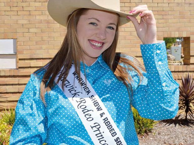 Tracey Madsen is in the running to win Warwick Rodeo Princess.