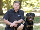 Dwayne Prosser with his Rottweiler Fico . Photo Nev Madsen / The Chronicle