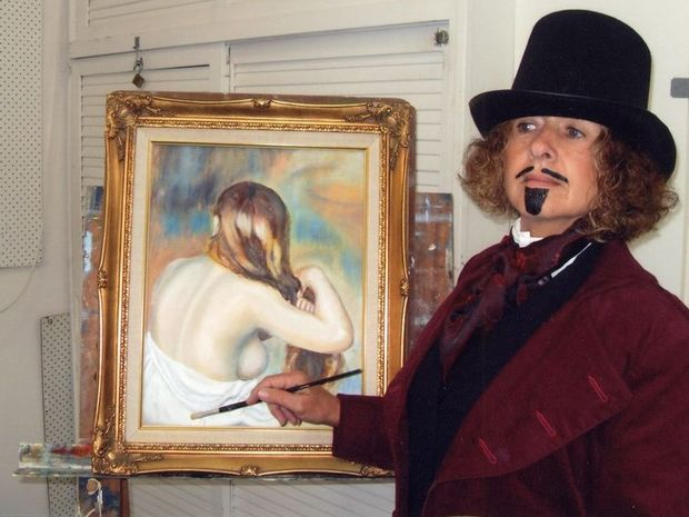 Marilyn Anderson AKA Renoir at the last Tweed Unlimited Arts party.