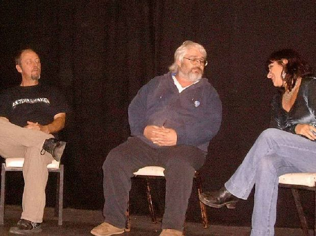 Grafton Theatre Company's latest production Four Seasons is a program of four one-act plays and the show gets under way at the Pelican Playhouse, South Grafton on Friday, October 19. Pictured here are Phil Hazell, Tim Sherger and Chris Hazell. Tickets available at The Book Warehouse.