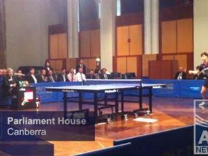 Ping pong at Parliament House
