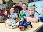 Ipswich Grammar School is holding an art exhibition to showcase some of the pieces made by students.
