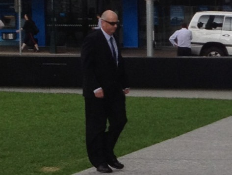 Cameron Page leaves court.