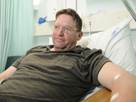 Goombungee man Harry Lauryssens, 55, was bitten by an eastern brown snake and lived to tell the tale.