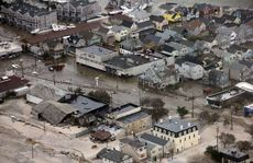 The aftermath of superstorm Sandy which killed more than 100 people.