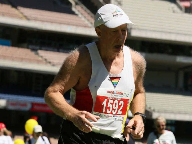 Paul Crouch-Chivers completed his landmark 100th marathon in Melbourne earlier this month.