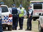 Emergency services at the scene where pilotTerry Kronk died after crashing his P51 Mustang near Helidon, Saturday, November 03, 2012. Photo Kevin Farmer / The Chronicle