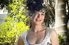 Melbourne Cup fashion on the field winner at Clifford Park, Cathy Ferguson.