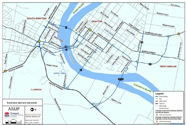 ON THE TABLE: The six options put forward for a new Grafton bridge by the RMS.