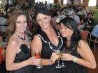 Caz Daniels, Kate Daniels and Sarah Smith at the Melbourne Cup function at the Ipswich Turf Club. Photo: Rob Williams / The Queensland Times