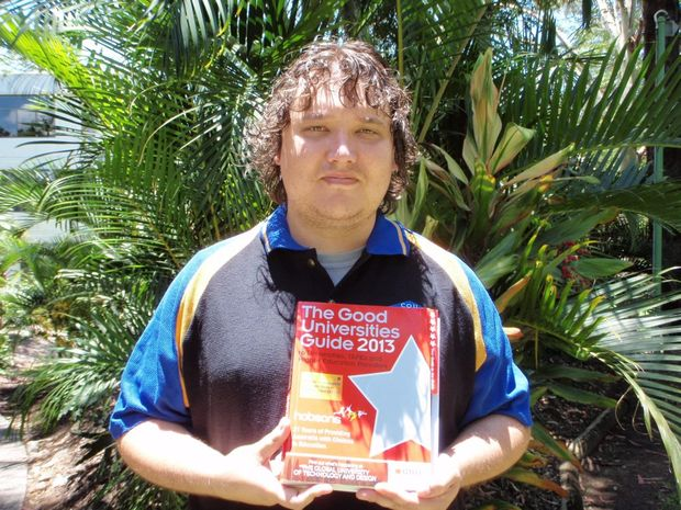 NOT GOOD ENOUGH: Student Brendan Kirkman is disappointed with the latest CQUniversity rankings.