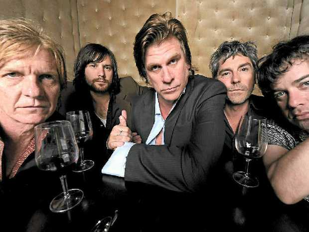 DARK HORSES: Charlie Owen, Gus Agars, Tex Perkins, Steven Hadley and Joel Silbersher.PHOTO: Martin Philbey