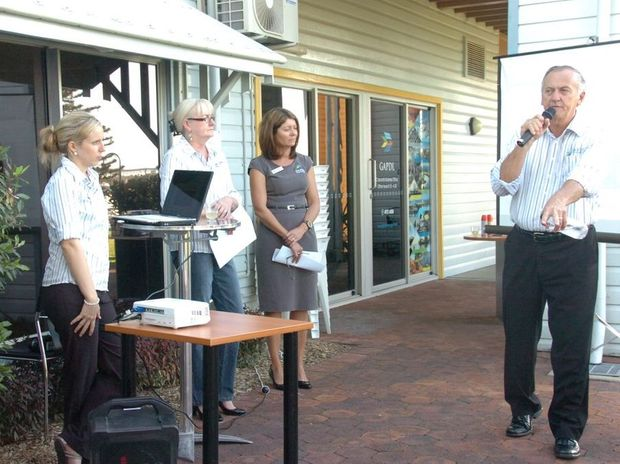 GAPDL CEO Glenn Churchill opens proceedings at the GAPDL Search for Solutions findings forum at the marina.