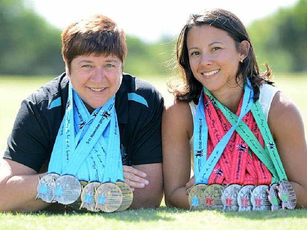 Karel McClintock and Sheril Buchanan went well at the Pan Pacific Masters Games.