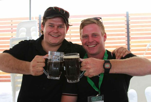 OUT AND ABOUT: Catching up with an old housemate, the archetype Mitch Underwood, at recent Oktoberfest celebrations.