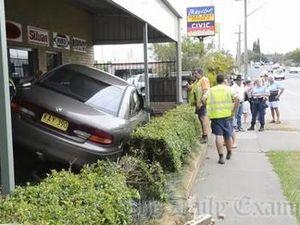 Car crashes into Jim Leslie shop