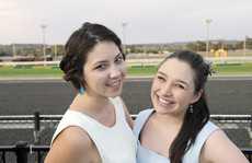 Aslinn Teixeira and Hannah Tait.