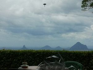 Mooloolah woman Greta Kleinhans' photo. Is it a UFO?
