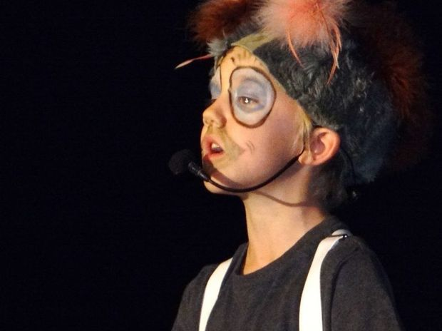 A student performs in Murwillumbah East Primary School's A Blunder Downunder musical. Photo: contributed