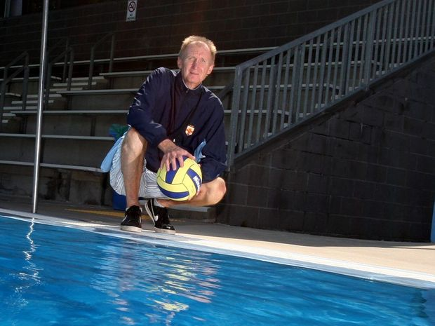 Water Polo Coach Mark Edwards at Murwillumbah Pool Photo Blainey Woodham / Daily News