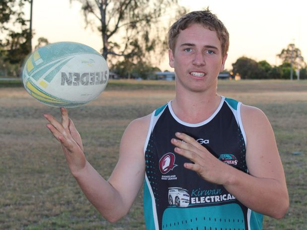 HALF BACK: Biloela's Karl Stevens has been selected in the CQ Capras under-18 squad. Photo Stacey Rudd / Central Telegraph