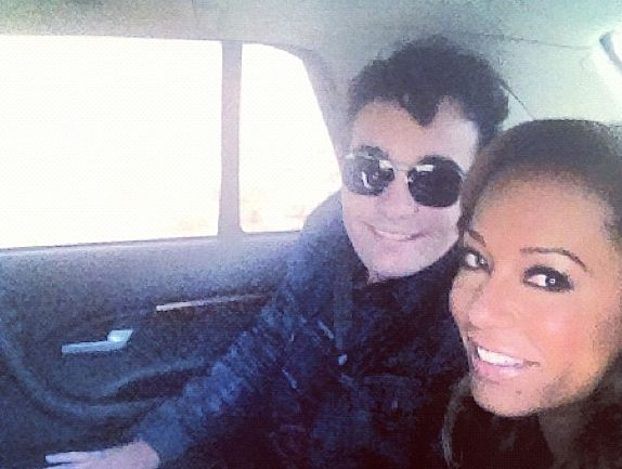 Jason Owen with X Factor mentor Mel B.