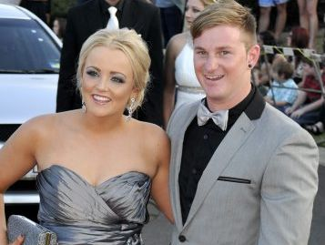 Shelby Malone and Luke Ash step out in style at the 2012 Harristown State High School formal.