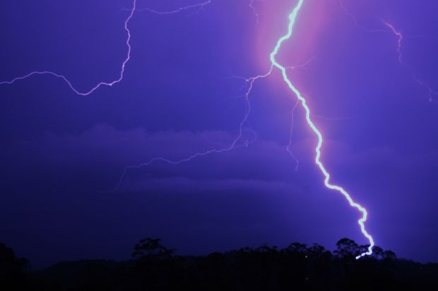 Michelle Aust posted this photo of the lightning at Palmwoods on the Sunshine Coast.