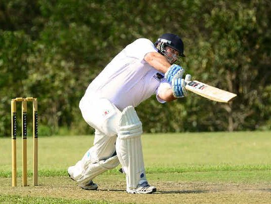 SUPPORT ROLE: Laidley batsman Jason Cubit on his way to 35 not out in Laidley's win over Northsiders on Saturday.