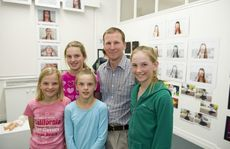 Nina, Bronte, Julia, Neil and Laurel Gannon at the grand finale of St Ursula's Week, Art 81.