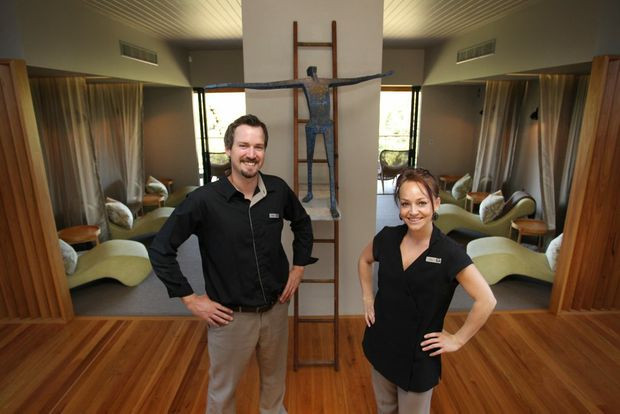 Tamarind Retreat's Spa Anise manager Adam Humphrey and senior spa consultant Kitty Knight.