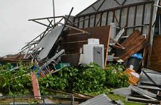 DESTROYED: The greenkeeper's shed at Woodburn Bowling Club was utterly destroyed.