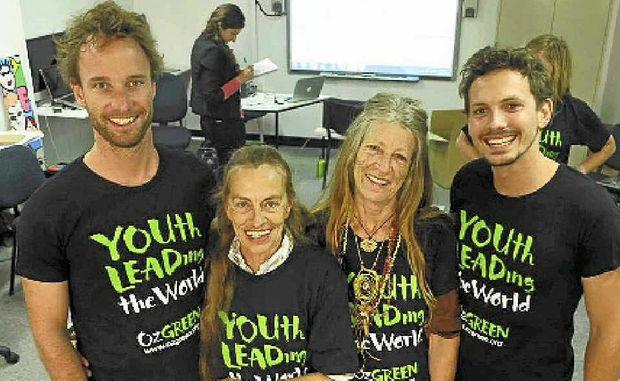 YOUTH LEADERS: Nimbin facilitators Adam Guise, Gail Clarke, Moksha and Paul Daley.