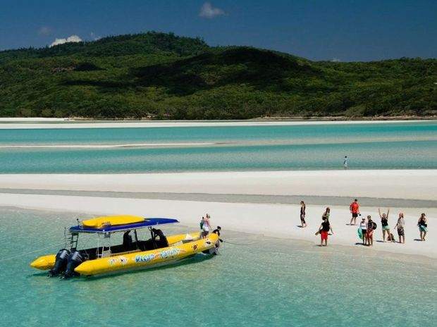 Ocean Rafting at Whitehaven Beach.
