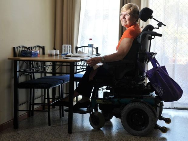 Lyn Elsley talks about her life with paraplegia.