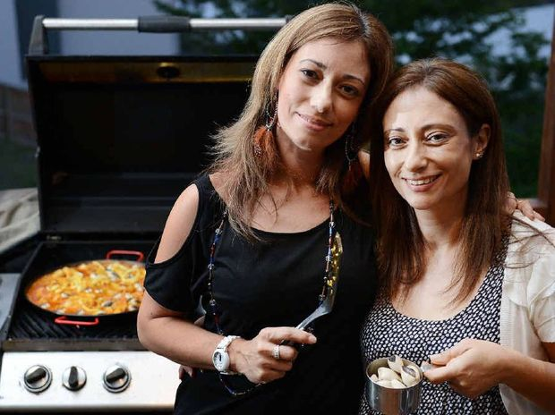 COOKING UP A STORM: Spanish sisters Lourdes Bondzulic and Maria Santiago have started a food blog that is attracting rave reviews; below, one of their paellas.