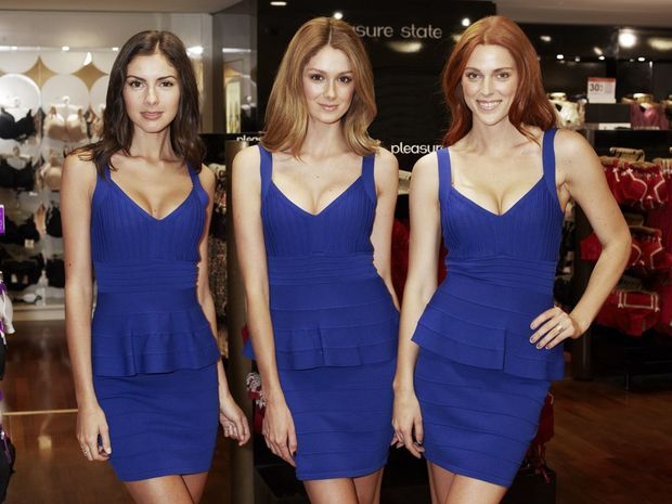Models wearing Pleasure State's new My Fit range of push up bras.